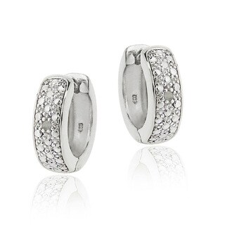 DB Designs Diamond Accent Mini-hoop Earrings (5 options available)
