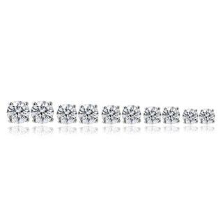 Link to Icz Stonez Sterling Silver 10.44 TCW CZ Stud Earrings (Set of 5) Similar Items in Earrings