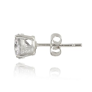 Icz Stonez Sterling Silver 10.44 TCW CZ Stud Earrings (Set of 5)