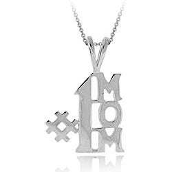 Mondevio Sterling Silver '#1 Mom' Necklace