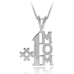 Mondevio Sterling Silver '#1 Mom' Necklace