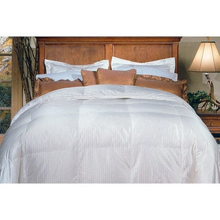 silk cotton oversized 650 thread count damask stripe white goose down comforter