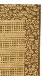 Safavieh Courtyard Natural/ Brown Indoor/ Outdoor Rug (2'4 x 6'7) - Thumbnail 1