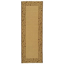 Safavieh Courtyard Natural/ Brown Indoor/ Outdoor Rug (2'4 x 6'7)