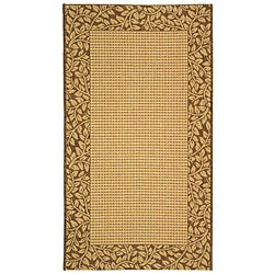 Safavieh Courtyard Natural/ Brown Indoor/ Outdoor Runner (2'7 x 5')