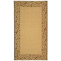 "Safavieh Courtyard Natural/ Brown Indoor/ Outdoor Runner - 2'7"" x 5'"