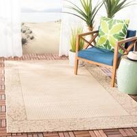 Safavieh Courtyard Natural/ Brown Indoor/ Outdoor Rug - 8' X 11'