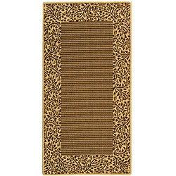 Safavieh Indoor/ Outdoor Brown/ Natural Rug (2'7 x 5')