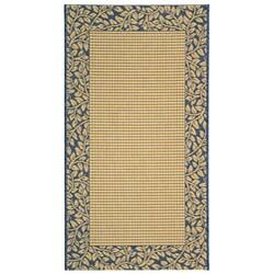 Safavieh Indoor/ Outdoor Natural/ Blue Rug (2'7 x 5')