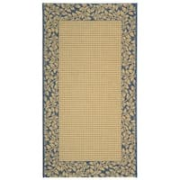 "Safavieh Courtyard Natural/ Blue Indoor/ Outdoor Rug - 2'7"" x 5'"