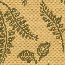 Safavieh Ferns Natural/ Olive Green Indoor/ Outdoor Runner (2'4 x 6'7)