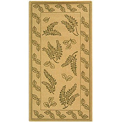 Safavieh Ferns Natural/ Olive Green Indoor/ Outdoor Rug (2'7 x 5')