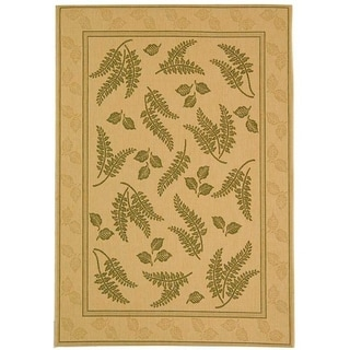 Safavieh Ferns Natural/ Olive Green Indoor/ Outdoor Rug (5'3 x 7'7)