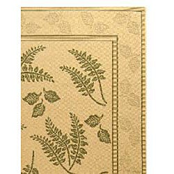 Safavieh Ferns Natural/ Olive Green Indoor/ Outdoor Rug (8' x 11') - Thumbnail 1