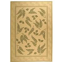 Safavieh Ferns Natural/ Olive Green Indoor/ Outdoor Rug - 8' x 11'