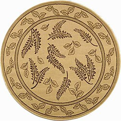 Safavieh Ferns Natural/ Brown Indoor/ Outdoor Rug - 5'3 round
