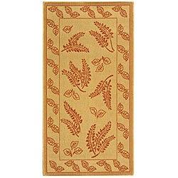 Safavieh Ferns Natural/ Terracotta Indoor/ Outdoor Rug - 8' x 11' - Thumbnail 0