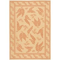 Safavieh Ferns Natural/ Terracotta Indoor/ Outdoor Rug - 8' X 11'