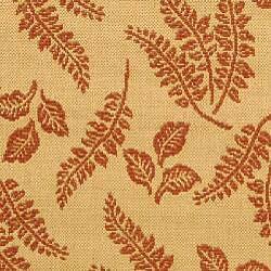 Safavieh Ferns Natural/ Terracotta Indoor/ Outdoor Rug (6'7 Round)