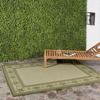 Safavieh Royal Natural/ Olive Green Indoor/ Outdoor Rug - 2'7 x 5'