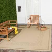 Safavieh Beachview Natural/ Brown Indoor/ Outdoor Rug - 8' x 11'