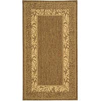 Safavieh Beachview Brown/ Natural Indoor/ Outdoor Rug - 2'7 x 5'