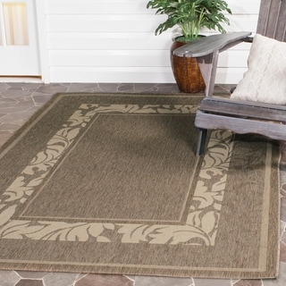 Safavieh Beachview Brown/ Natural Indoor/ Outdoor Rug (8' x 11')