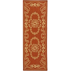 Safavieh Garden Elegance Terracotta/ Natural Indoor/ Outdoor Runner (2'4 x 6'7)