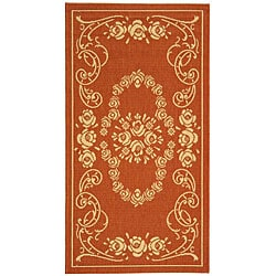 Safavieh Garden Elegance Terracotta/ Natural Indoor/ Outdoor Rug (2'7 x 5')