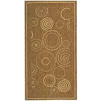 Safavieh Ocean Swirls Brown/ Natural Indoor/ Outdoor Rug (2'7 x 5') - 2'7 x 5'