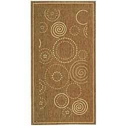 Safavieh Ocean Swirls Brown/ Natural Indoor/ Outdoor Rug (2'7 x 5')