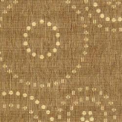 Safavieh Ocean Swirls Brown/ Natural Indoor/ Outdoor Rug (4' x 5'7) - Thumbnail 2