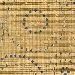 Safavieh Ocean Swirls Natural/ Blue Indoor/ Outdoor Rug (2'7 x 5) - Thumbnail 2