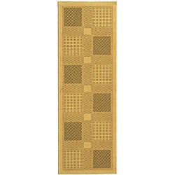 Safavieh Lakeview Natural/ Olive Green Indoor/ Outdoor Runner (2'4 x 6'7)
