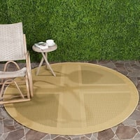 "Safavieh Lakeview Natural/ Olive Green Indoor/ Outdoor Rug - 6'-7"" x 6'-7"" round"
