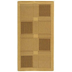 Safavieh Lakeview Natural/ Brown Indoor/ Outdoor Rug - 4' x 5'7 - Thumbnail 0