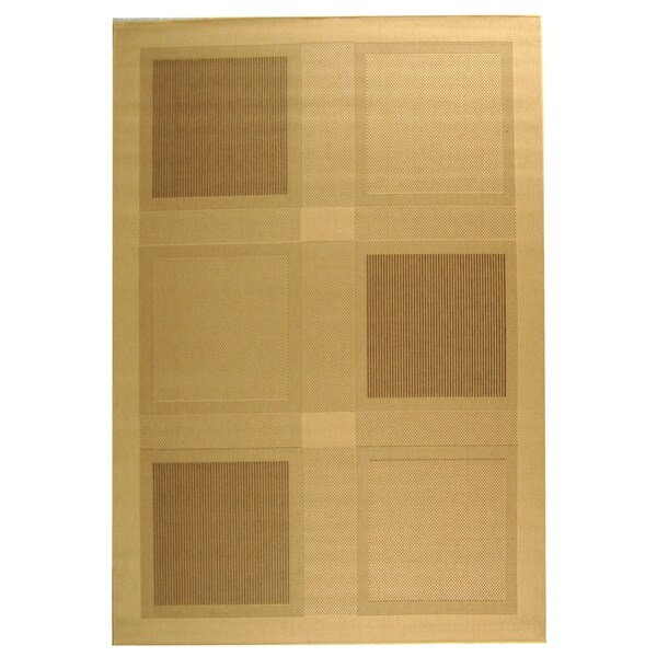 """Safavieh Lakeview Natural/ Brown Indoor/ Outdoor Rug - 4' x 5'-7"""""""