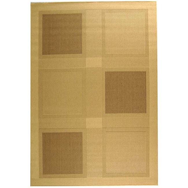 Safavieh Lakeview Natural/ Brown Indoor/ Outdoor Rug (8' x 11')