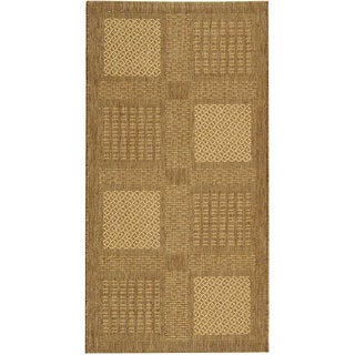Safavieh Lakeview Brown/ Natural Indoor/ Outdoor Rug (4' x 5'7)