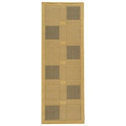 Safavieh Lakeview Natural/ Blue Indoor/ Outdoor Runner (2'4 x 6'7) - 2'4 x 6'7 - Thumbnail 0