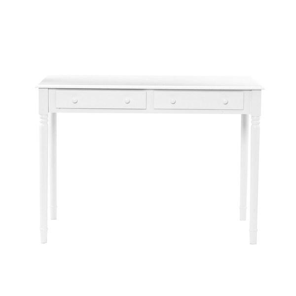White Desk Table Part - 35: Harper Blvd Highland 2-drawer White Writing Desk - Free Shipping Today -  Overstock.com - 12027079