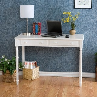 Gracewood Hollow Alicka 2-drawer White Writing Desk