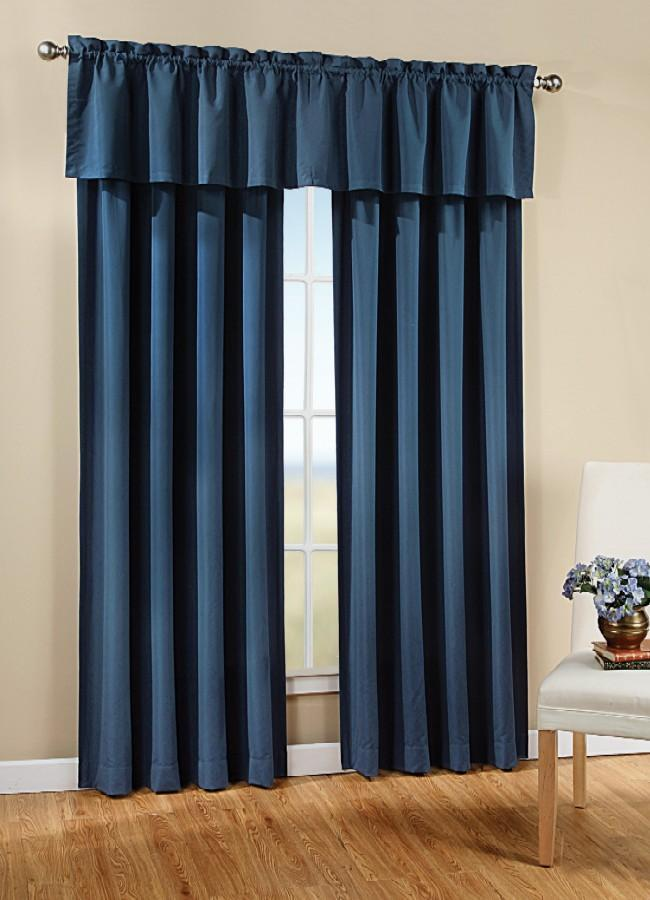Solid Color Peach Skin Curtain Panel Free Shipping On