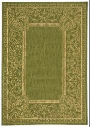 Safavieh Abaco Olive Green/ Natural Indoor/ Outdoor Rug (2'7 x 5') - Thumbnail 1