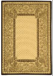 Safavieh Abaco Natural/ Chocolate Indoor/ Outdoor Rug (2'7 x 5') - Thumbnail 2