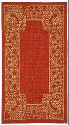 Safavieh Indoor/ Outdoor Abaco Red/ Natural Rug (2' x 3'7)