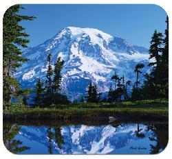'Mountain Reflection' Deluxe Antimicrobial Mouse Pad