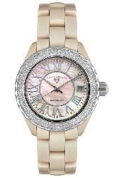Swiss Legend Karamica Women's Beige Ceramic Diamond Watch