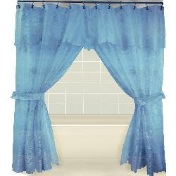 Tribute Lace Double Swag Shower Curtain