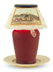 Farm House Small Ceramic Candle Warmer Lamp - Thumbnail 2